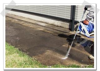 コンクリート土間の洗浄