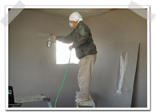 住宅室内の水性ゾラコート塗装