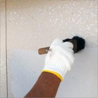富山県魚津市 住宅外壁の塗り替え 下塗り