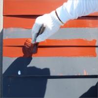 富山県南砺市の塗り替え トタン屋根の下塗り(サビ止め塗装)