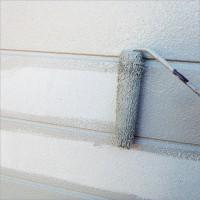 富山県南砺市の塗り替え 2種類の外壁サイディングへ上塗り