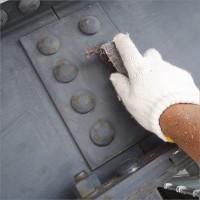 富山県南砺市の塗り替え 鉄骨車庫の目荒らし