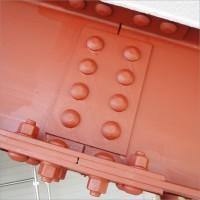 富山県南砺市の塗り替え 鉄骨車庫の下塗り(サビ止め塗装)