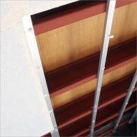 富山県南砺市の塗り替え 鉄骨車庫の天井ボード張り替えと補修