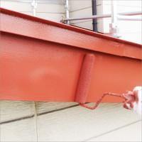 富山県高岡市 住宅塗り替え 破風トタンのサビ止め塗装