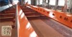 鉄工所さんで工場増築用 柱と梁のサビ止め塗装