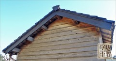 富山県南砺市 納屋 木の破風の取り替え