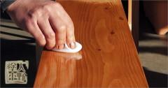 木材鏡面仕上げ塗装「たんぽずり」13秒のデモ動画