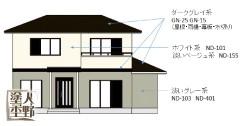 住宅塗り替えのカラーコーディネート