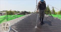 射水市太閤山 住宅塗り替え コロニアル屋根の洗浄
