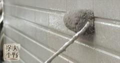 住宅 タイル調 外壁サイディングの仕上げ塗装