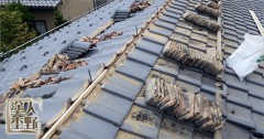 富山市呉羽 住宅屋根の塗り替え 棟瓦の組み直し 解体編