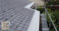 富山市呉羽 住宅屋根の塗り替え 下塗り