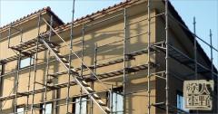富山県砺波市 住宅外壁の塗り替え 仮設足場の設置