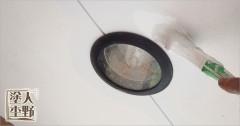 富山県砺波市 住宅塗り替え 軒裏の中塗り