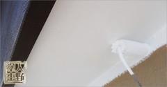 富山県砺波市 住宅塗り替え 軒裏の上塗り(仕上げ塗装)
