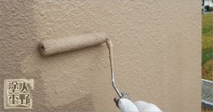 富山県砺波市 住宅塗り替え 外壁の上塗り